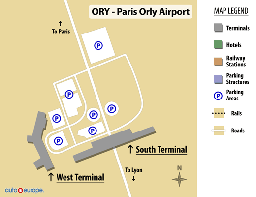 Orly Airport Airport Map