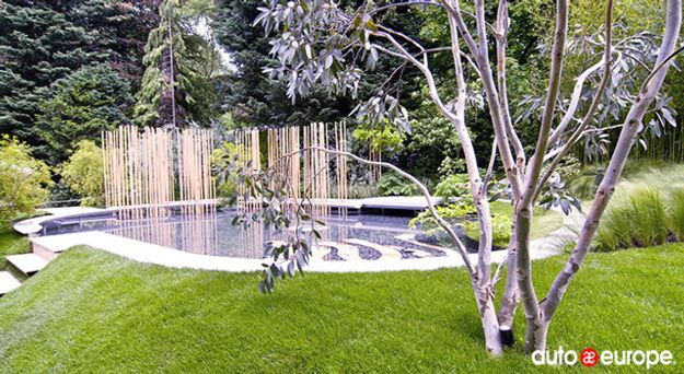 A show garden in the Chelsea Flower Show