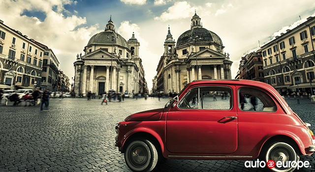 Vintage Red Car, Italy
