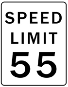 USA Speed Sign