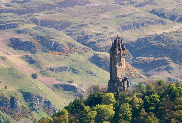 View over Wallace Monument, Near Stirling.